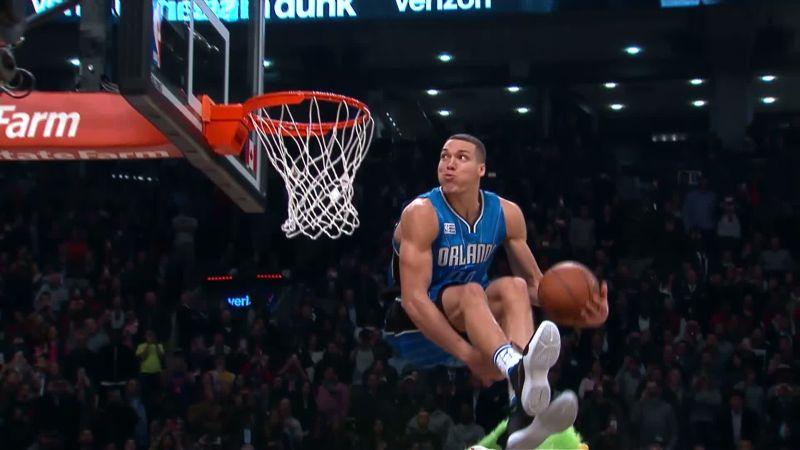Dernier dunk de la finale du Dunk Contest NBA 2016 d'Aaron Gordon