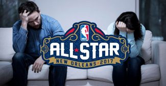 Un homme et une femme qui se séparent, dur de se faire larguer pendant le all-star week-end