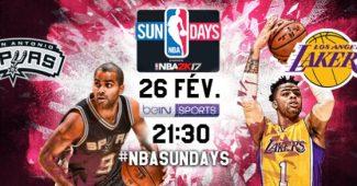 Affiche des NBA Sundays du 26 février entre les Spurs et les Lakers, une huitième victoire de suite pour les Spurs ?