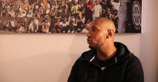 Boris Diaw en 2015 avant une interview chez Nike.
