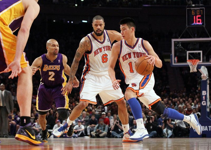 Jeremy Lin pendant la Linsanity contre les Lakers