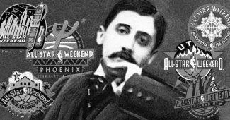Madeleine de Proust revisitée avec les logos de plusieurs All-Star Game